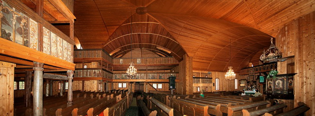 Wooden Church Svatý Kriz - interior / © Bedrich Schraiber │Source: Slovak Tourist Board