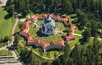 Czech Republic - Žďár nad Sázavou - the Church of St. Jan Nepomucký - Aerial Photograph